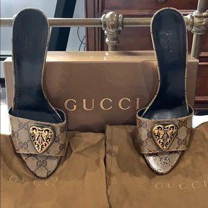 Gucci White & Beige Heels Euro 37.5+
